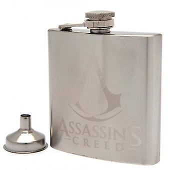 Assassins Creed Chrome Hip Flask
