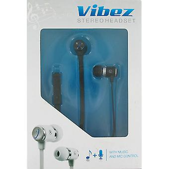 Wireless One Vibez Corded Stereo Headset - Black