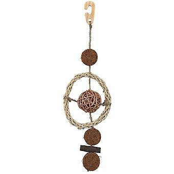 Trixie Natural Toy with Sisal Rope 35 Cm. (Birds , Bird Cage Accessories , Toys)