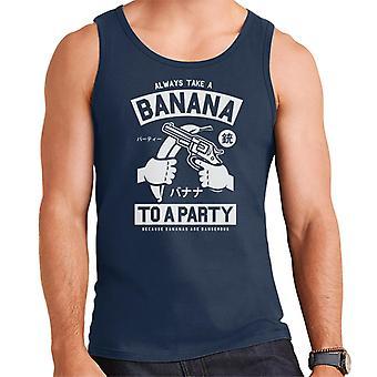 Banaan partij Retro Logo mannen Vest