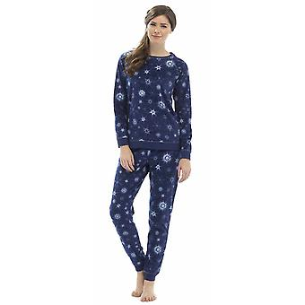 Ladies Foxbury Printed Fleece &  Lurex Thread Pyjama pajama Sleepwear
