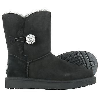 UGG Bailey Button Bling Black 1016553BLK universal winter women shoes