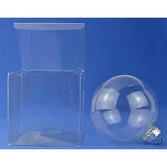 10 Acetate Square Box Presentation Boxes for Gifts or Baubles 10cm