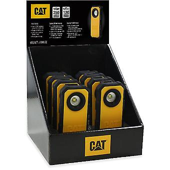 CAT Workwear Mens Pocket Spot Hand Held Work Torch Light 250LM 8 Pack