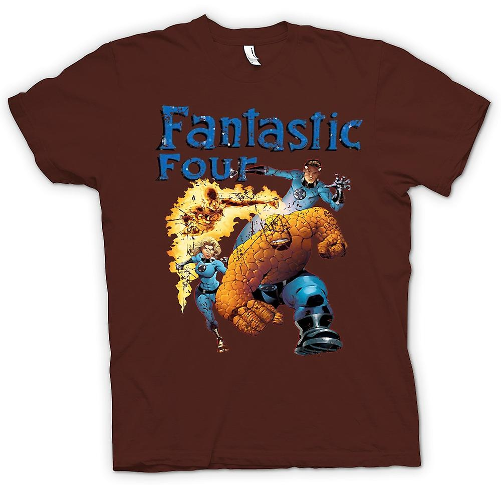 Hommes T-shirt - Fantastic Four - Comic Super Hero