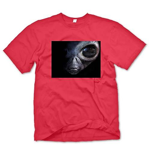 Heren T-shirt-Alien - UFO - grijs