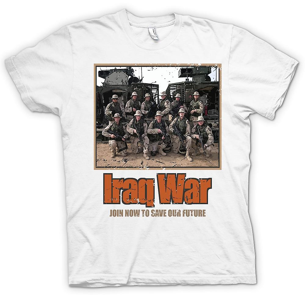 Mens T-shirt - Iraq War - Join Now To Save Our Future