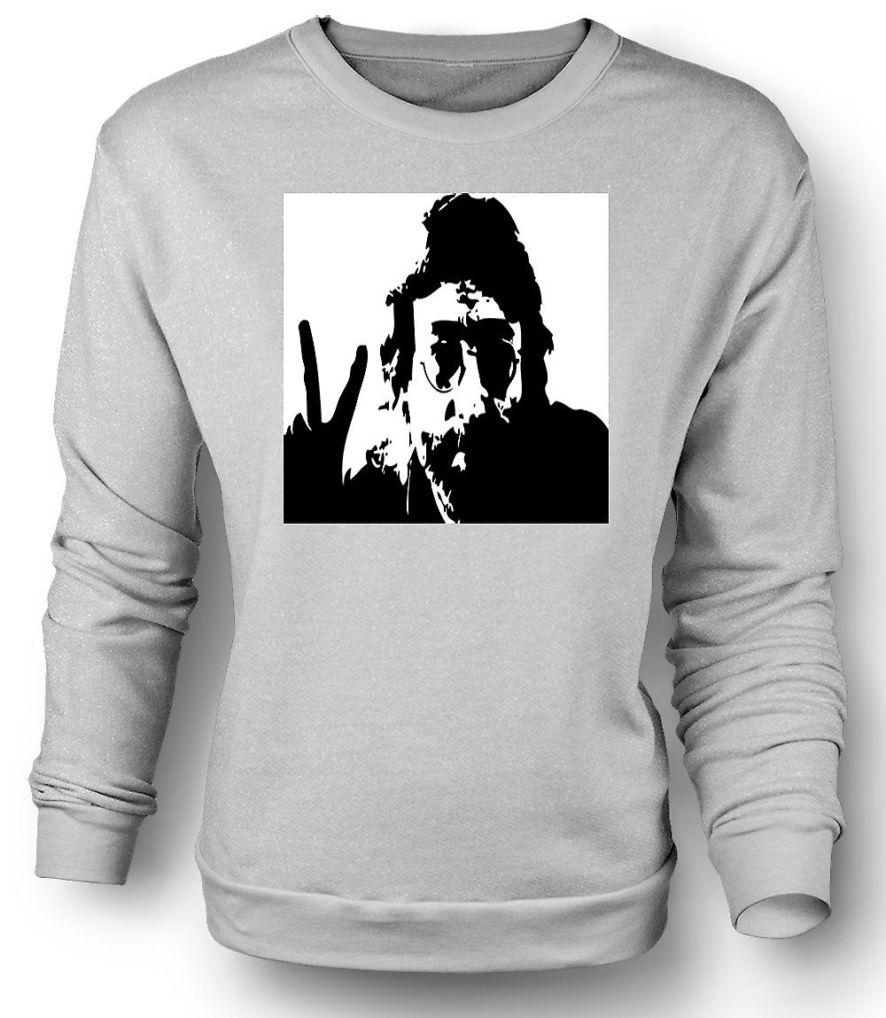 Mens Sweatshirt John Lennon - Anti War