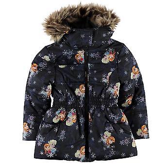 Karakter børn piger polstret frakke spædbarn jakke Top Langærmet Hooded Zip fuld