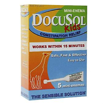 Docusol enfants de soulagement de la constipation, mini lavement, ea 5