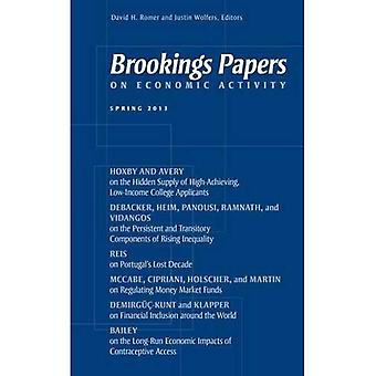Brookings Papers on Economic Activity : printemps 2013