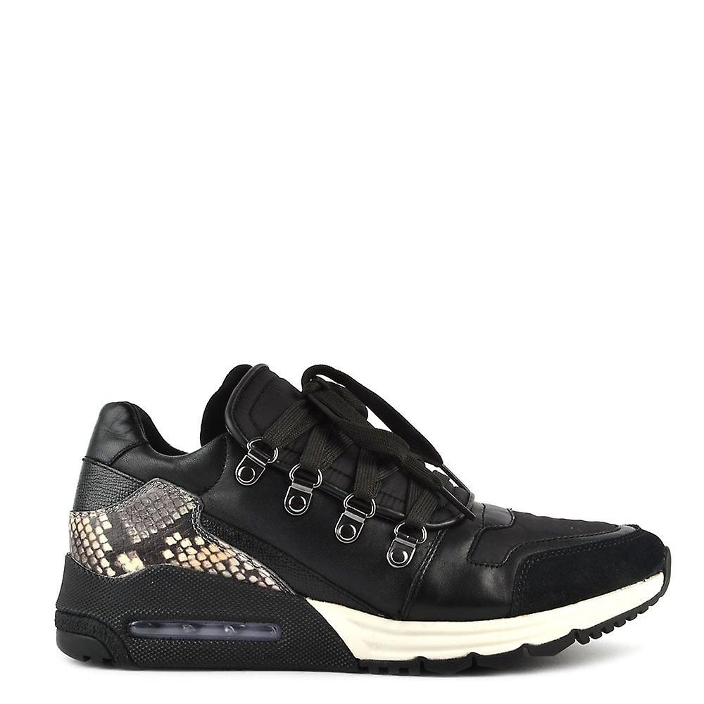 Ash Footwear Mens& 039; Malcom noir And Python Print Trainer