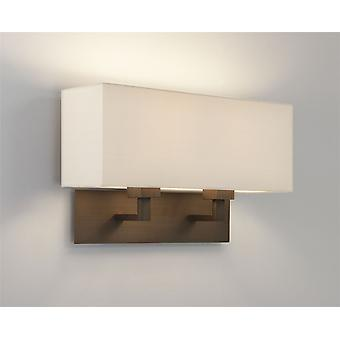 Park Lane Twin Bronze Plated Wall Light - Shade Not Included - Astro Lighting 7064