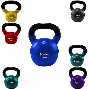 BodyRip Cast Iron Exercise Kettlebells Colour Coded