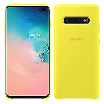 Samsung silicone cover yellow for Samsung Galaxy S10 plus G975F EF-PG975TYEGWW bag case protective cover