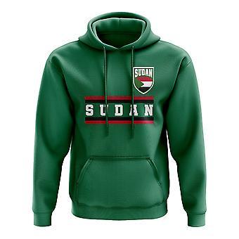 Sudán base fútbol país Hoody (verde)