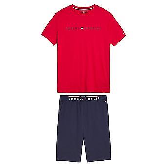 Tommy Hilfiger Cotton Pyjama Set, Tango Red / Navy Blazer, Small