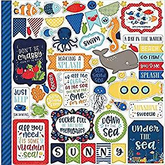 Echo Park Paper Under The Sea 12x12 Inch Element Stickers (US131014)