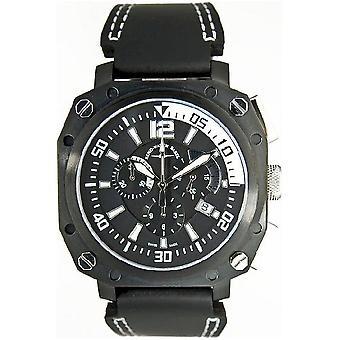 Zeno-Watch Herrenuhr Quartz 2 Chronograph black 90241Q-bk-a1