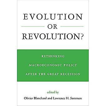 Evolução ou revolução?: repensar a política macroeconômica após a grande recessão (a imprensa do MIT)