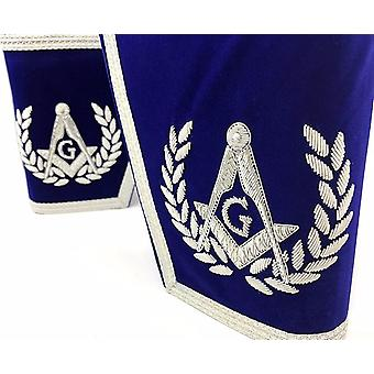 Masonic Gauntlets Cuffs - Embroidered - Blue