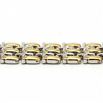 The Olivia Collection Goldtone & Silvertone 3 Row Magnetic Bracelet 8 inches.