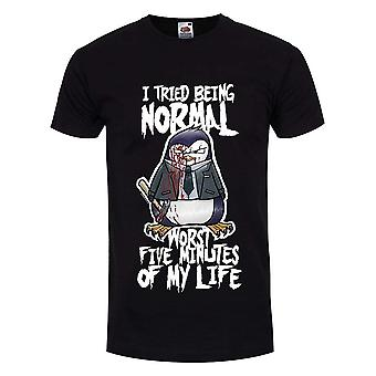 Psycho Penguin Mens  I Tried Being Normal T-Shirt