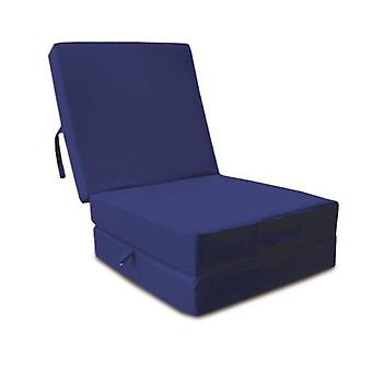 Cotton Fold Out Z Bed Cube - Blue