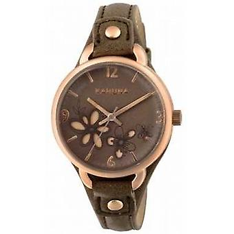 Kahuna Womens Taupe Brown Strap Brown Dial KLS-0310L Watch
