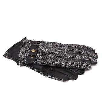 Scotch & Soda Men's Leather And Wool Gloves