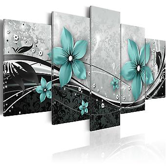 Canvas Print - Turquoise flower of night