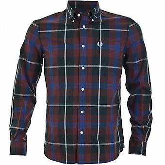 Fred Perry Men's Large Check Long Sleeve Shirt - M3265-799