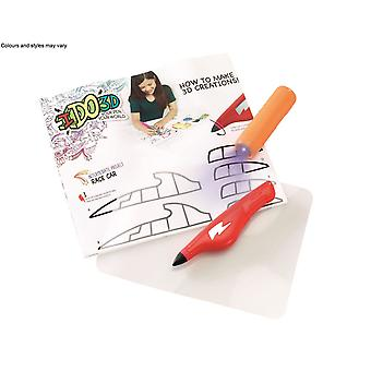 Ido3d Single Pen Starter Set - Red   Machines That Go