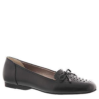 ARRAY Womens Sweet Pea Leather Square Toe Slide Flats