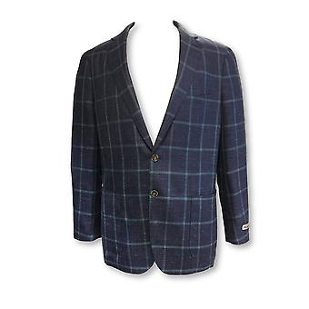 Peter Miar Crown Soft jacket in bue windowpane check