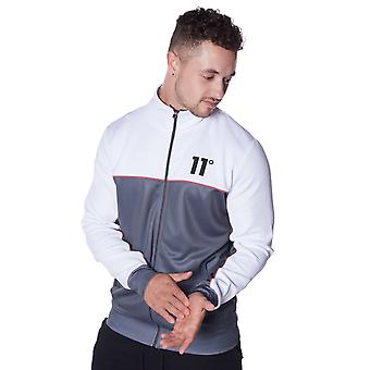 11 Degrees Piping Poly Track Top - Anthracite, White & Red