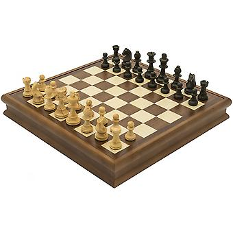 The Dal Negro Luxury Walnut Chess and Draughts Set