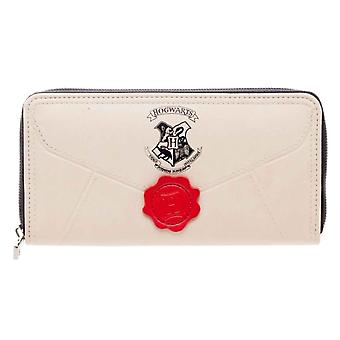 Harry Potter Purse letters from Hogwarts seal new Official white zip around