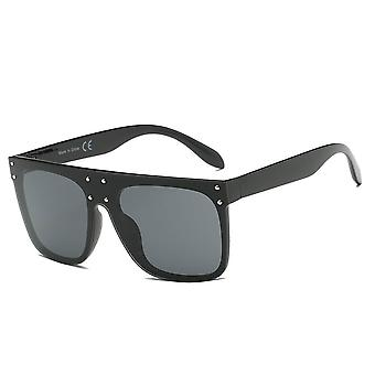 Akron | s2060 - flat top oversize mirrored square sunglasses