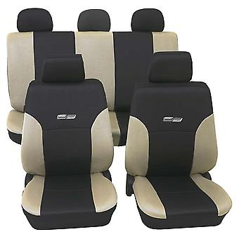 Beige & Black Car Seat Covers For Audi A1 Sportback 2011-2018