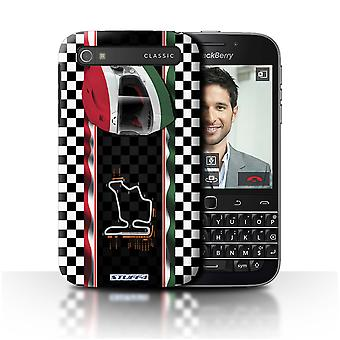 STUFF4 Case/Cover for Blackberry Classic/Q20/Hungary/Budapest/F1 Track Flag