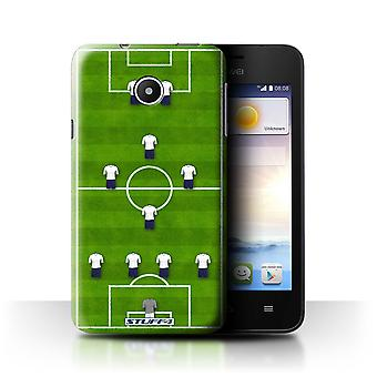 STUFF4 Case/Cover for Huawei Ascend Y330/4-1-2-1-2/White/Football Formation