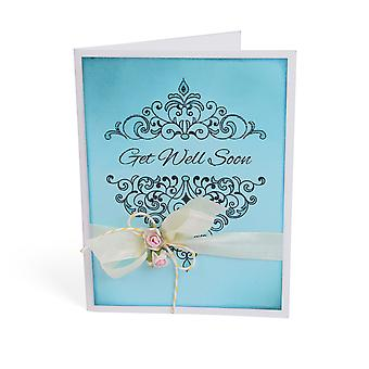 Sizzix Interchangeable Clear Stamps-Damask Greetings 660560