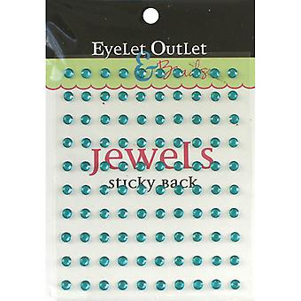 Bling Self Adhesive Jewels 5Mm 100 Pkg Blue Eob6 Blu