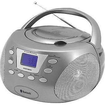 FM Radio/CD SoundMaster SCD3800TI AUX, Bluetooth, CD, FM Silver