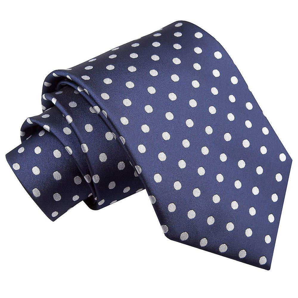 Polka Dot Navy Blue Tie