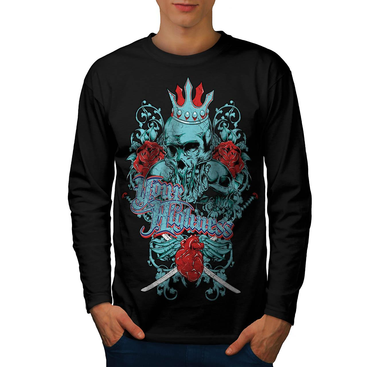 Your Highness Horror Heart Break Men Black Long Sleeve T-shirt | Wellcoda