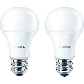 LED E27 Arbitrary 9 W = 60 W Warm white (Ø x L) 60 mm x 110 mm EEC: A+ Philips Lighting 2 pc(s)