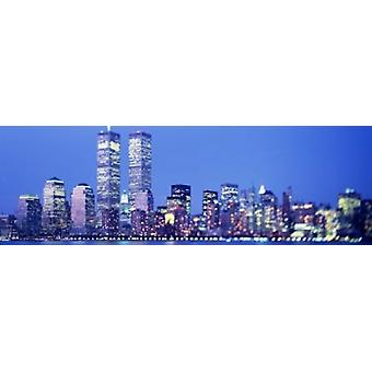 Soirée de Lower Manhattan NYC New York City New York USA État Poster Print
