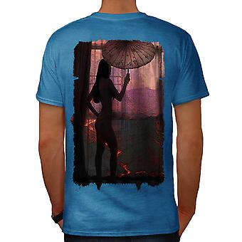 Erotic Stylish Fashion Men Royal Blue T-shirt Back | Wellcoda